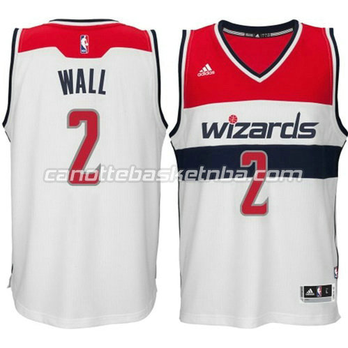 maglia john wall #2 washington wizards 2014-2015 bianca