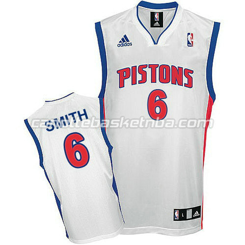 maglie nba josh smith #6 detroit pistons bianca