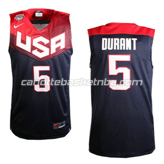 canotte basket kevin durant #5 nba usa 2014 nero