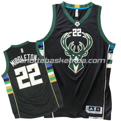 maglia khris middleton #22 milwaukee bucks 2015-2016 nero