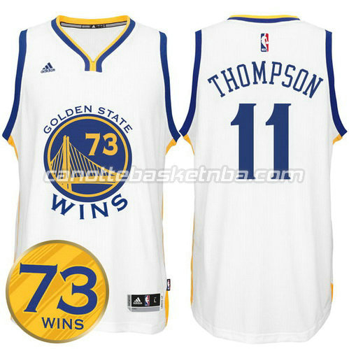 maglia klay thompson #11 golden state warriors 73 wins 2016 bianca