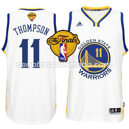 maglia klay thompson #11 golden state warriors finale 2015 bianca