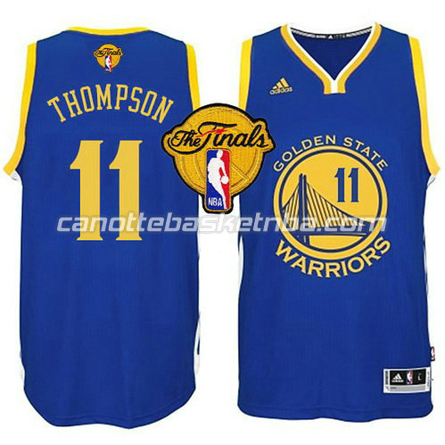 maglia klay thompson #11 golden state warriors finale 2015 blu