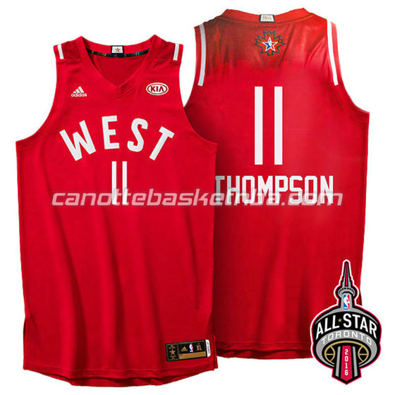 maglia basket klay thompson #11 nba all star 2016 rosso