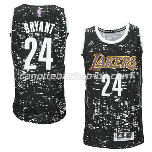 maglia kobe bryant #24 los angeles lakers lights nero