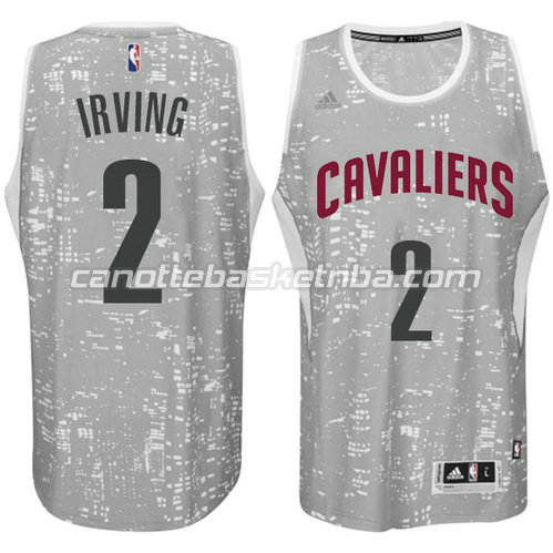 maglia nba kyrie irving #2 cleveland cavaliers lights grigio