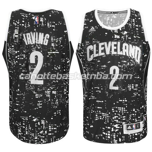 maglia cleveland cavaliers con kyrie irving #2 lights nero