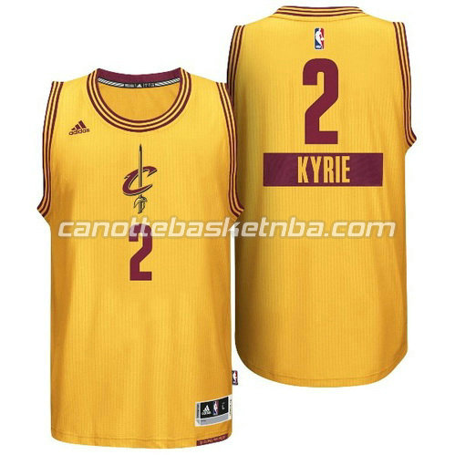 maglia kyrie irving #2 cleveland cavaliers natale 2014 giallo