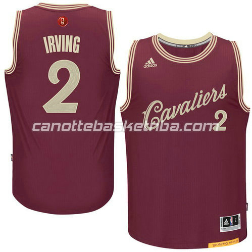 maglia cleveland cavaliers kyrie irving #2 natale 2015 resso
