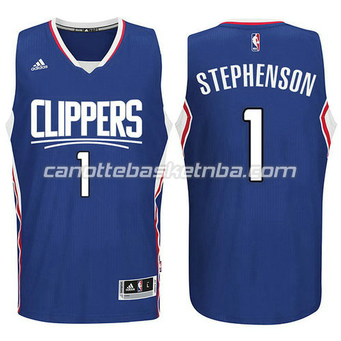maglia los angeles clippers 2015-2016 con lance stephenson #1 blu