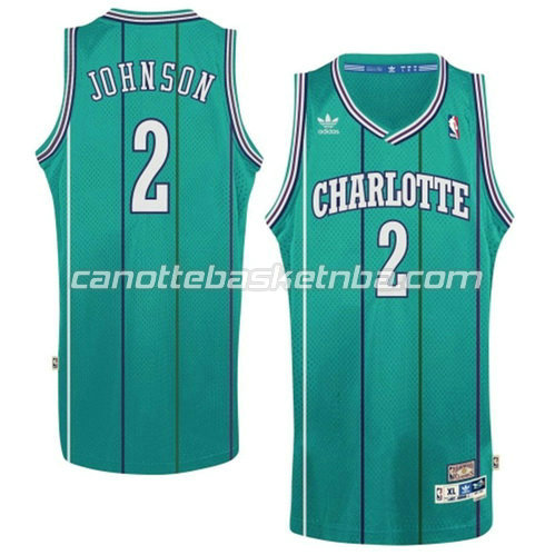 maglie nba larry johnson #2 charlotte hornets retro