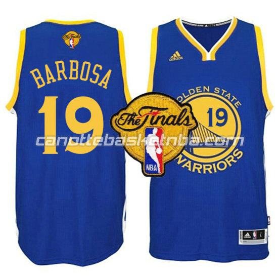 maglia leandro barbosa 19 golden state warriors finale 2016 blu