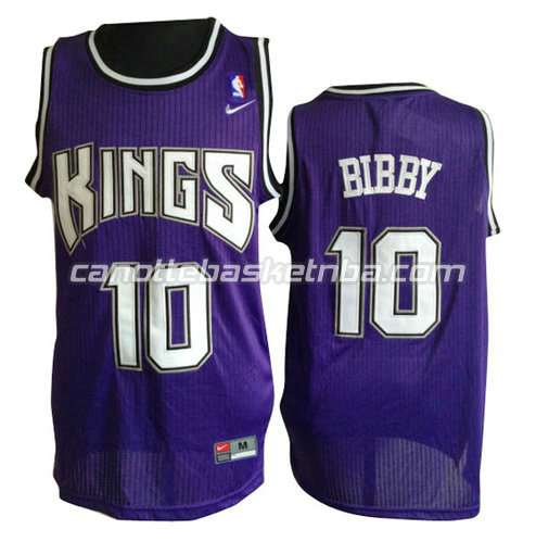 canotte basket mike bibby #10 sacramento kings porpora