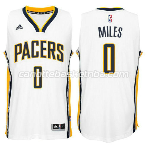 maglia miles #0 indiana pacers 2014-2015 bianca
