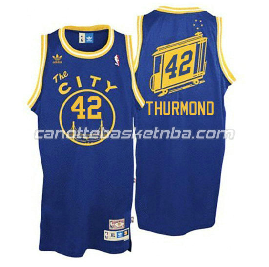 maglia nate thurmond 42 golden state warriors the city blu