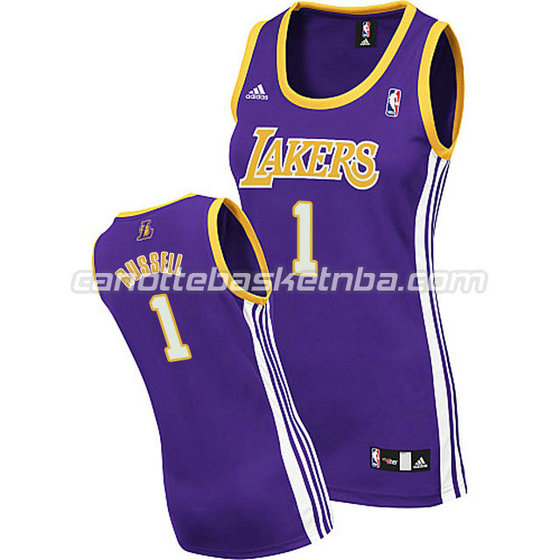 maglia nba donna los angeles lakers d'angelo russell #1 blu
