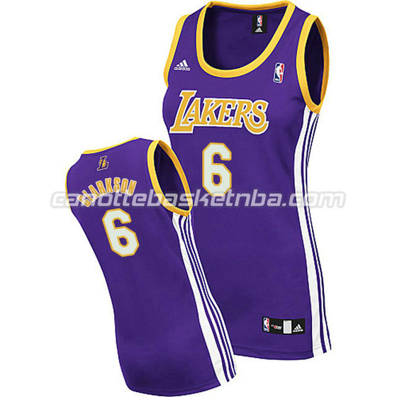 maglia nba donna los angeles lakers jordan clarkson #6 blu