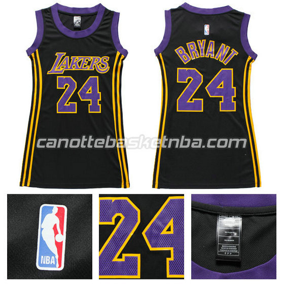 maglia nba donna los angeles lakers kobe bryant #24 navy blu