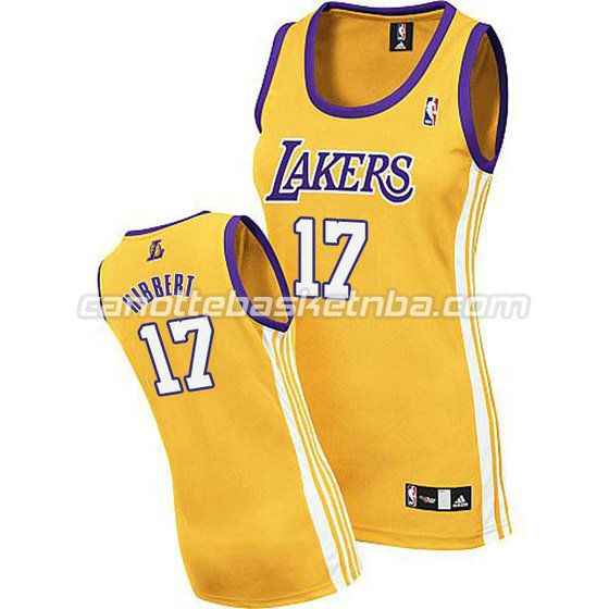 maglia nba donna los angeles lakers roy hibbert #17 giallo