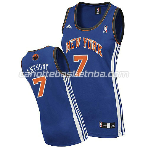 maglia nba donna new york knicks carmelo anthony #7 blu