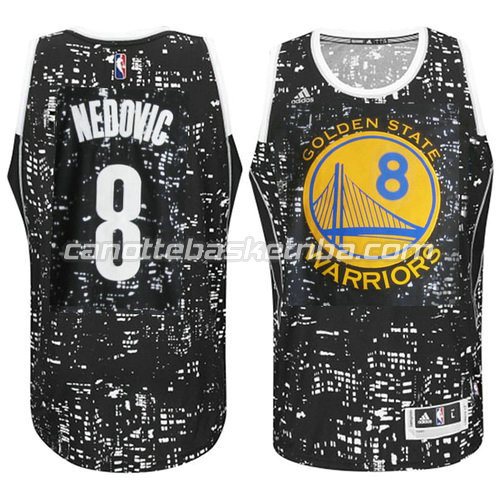 maglia nemanja nedovic #8 golden state warriors lights nero