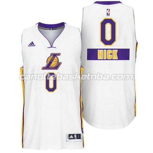 maglia nick young #0 los angeles lakers natale 2014 bianca