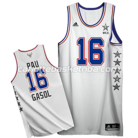 canotte basket pau gasol #16 nba all star 2015 bianca