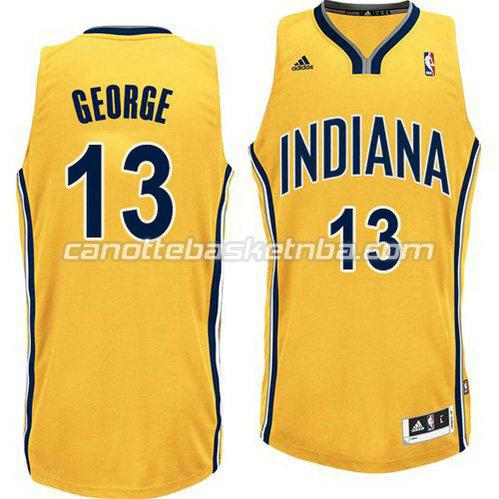 nuova maglia paul george  13 indiana pacers revolution 30 giallo ... 85fe73b5c817