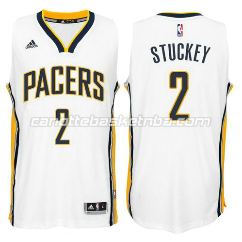 maglia rodney stuckey #2 indiana pacers 2014-2015 bianca