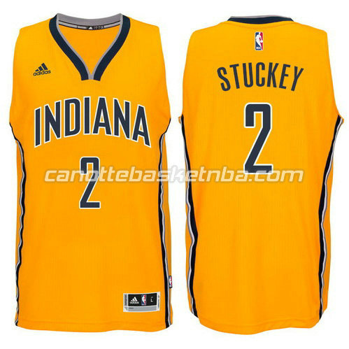 maglia rodney stuckey #2 indiana pacers 2014-2015 giallo
