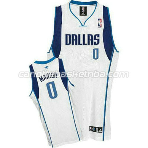 maglia shawn marion 0 dallas mavericks revolution 30 bianca