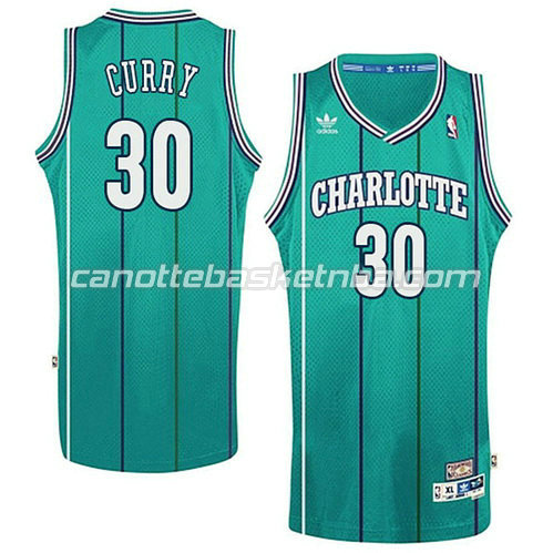 maglia basket stephen curry #30 charlotte hornets retro