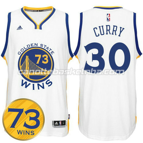 maglia stephen curry #30 golden state warriors 73 wins 2016 bianca
