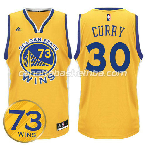 maglia stephen curry #30 golden state warriors 73 wins 2016 giallo