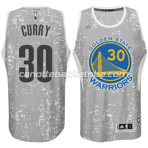 maglia golden state warriors stephen curry #30 lights grigio