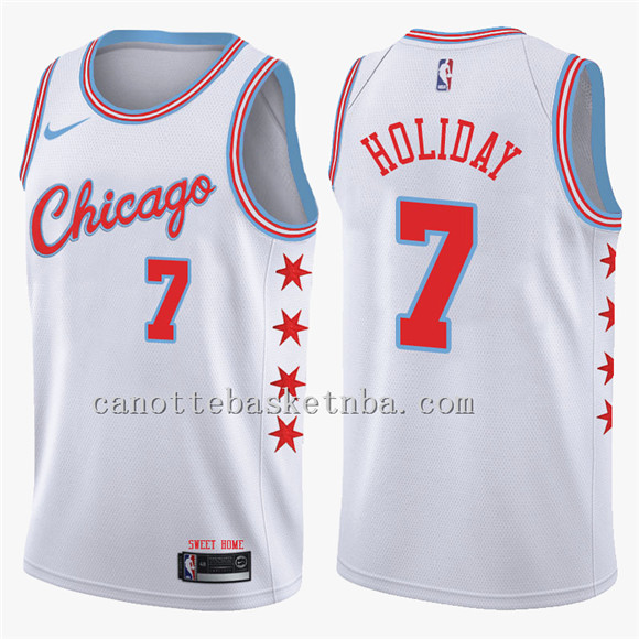 maglia chicago bulls 2018 justin holiday 7 bianca