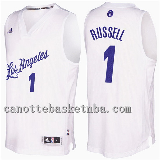 maglia d'angelo russell 1 Natale 2016-2017 los angeles lakers bianco