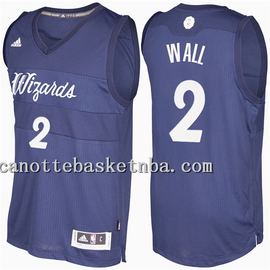 maglia john wall 2 Natale 2016-2017 washington wizards blu