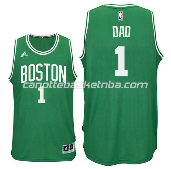 canotta dad logo 1 boston celtics 2015-2016 verde