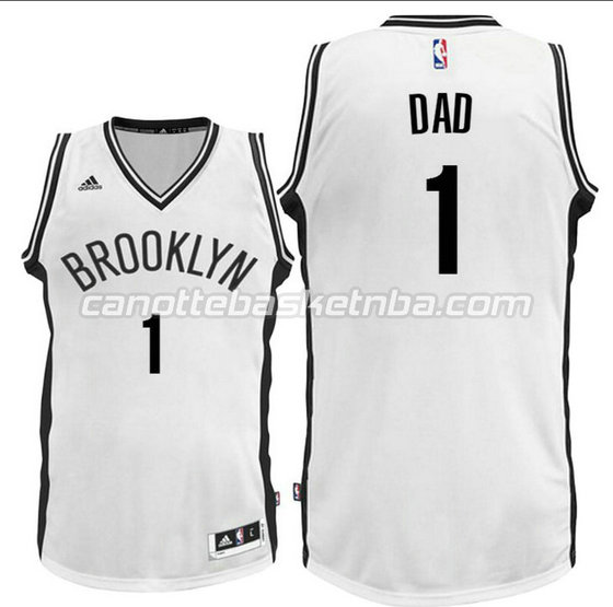 canotte nba dad logo 1 brooklyn nets 2016 bianca