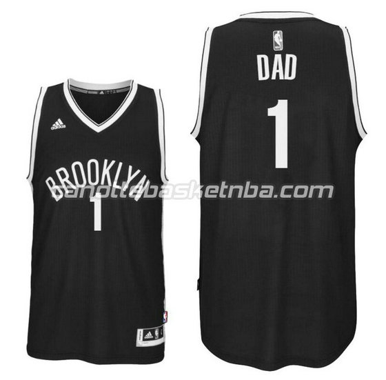 canotte nba dad logo 1 brooklyn nets 2016 nero