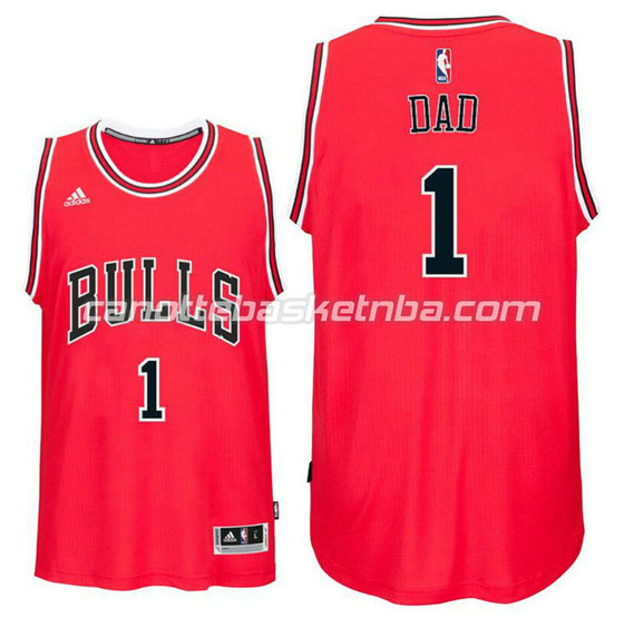 canotte nba chicago bulls 2016 con dad logo 1 rosso