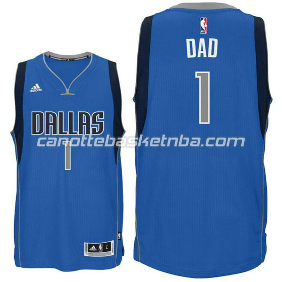 canotta dallas mavericks 2015-2016 con dad logo 1 blu