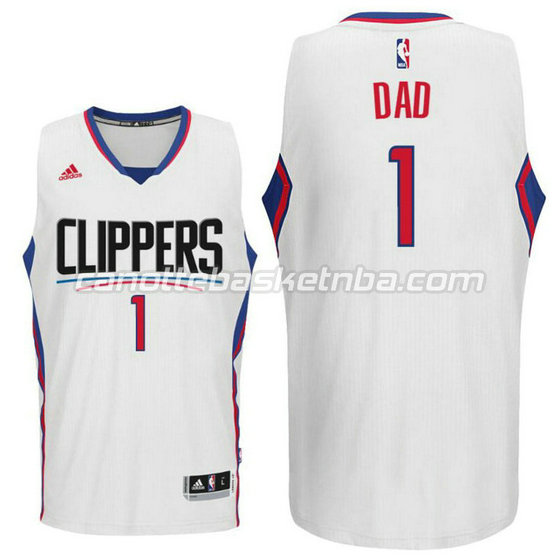 canotte nba dad logo 1 los angeles clippers 2016 bianca