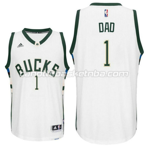 canotte nba milwaukee buck 2016 con dad logo 1 bianca