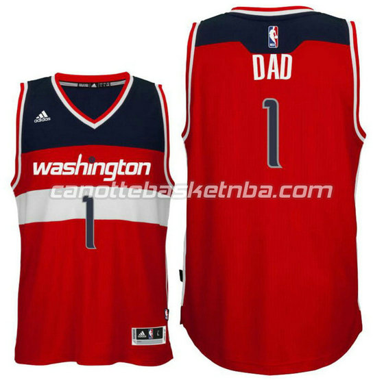 canotta dad logo 1 washington wizards 2015-2016 rosso