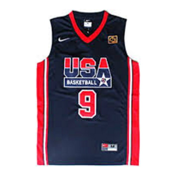 maglie Michael Jordan 9 Nba Usa 1992 blu