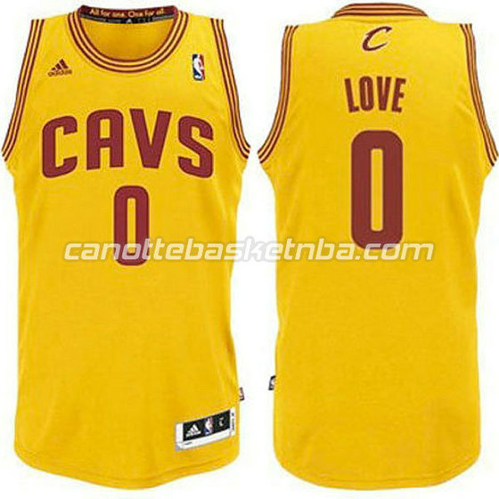 canotte basket bambini cleveland cavaliers kevin love #0 giallo