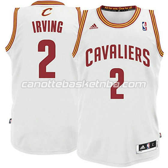 canotte basket bambini cleveland cavaliers kyrie irving #2 bianca