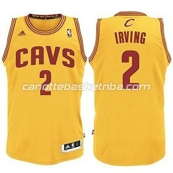 canotte basket bambini cleveland cavaliers kyrie irving #2 giallo